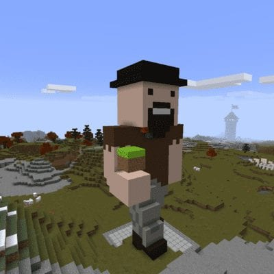 Notch Statue! Game Changer for Minecraft