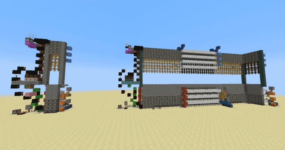 4-High Pegasus Portcullis Piston Gate