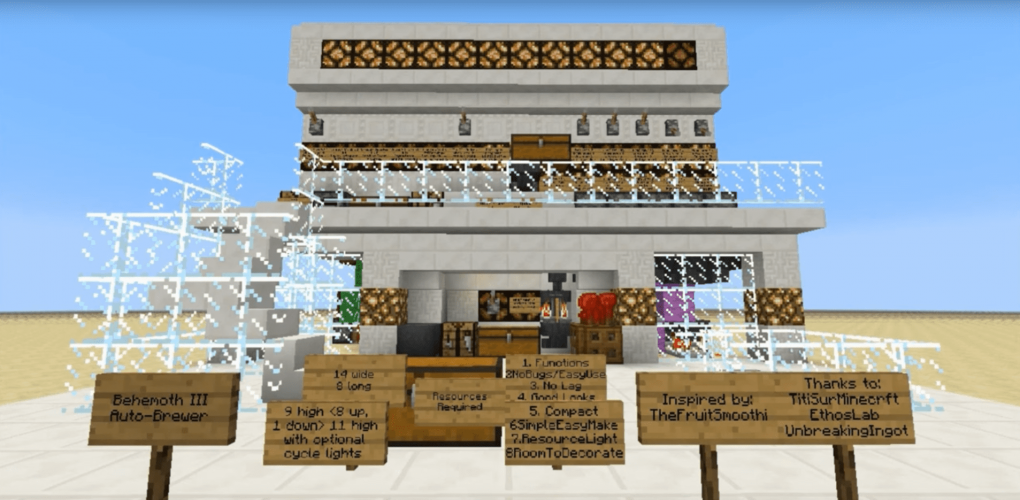 Behemoth III Auto-Brewer by Tyruswoo - Minecraft Survival-Friendly Redstone