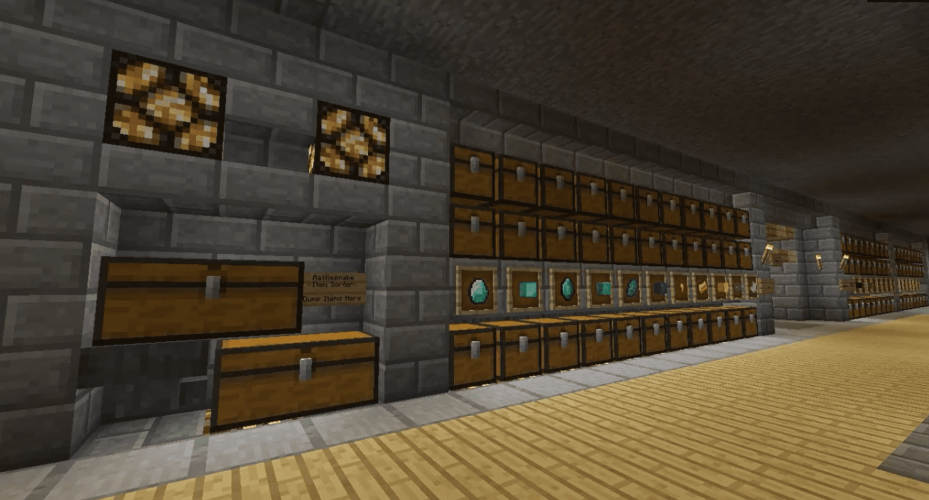 Rattlesnake Item Sorter for Minecraft - By Tyruswoo