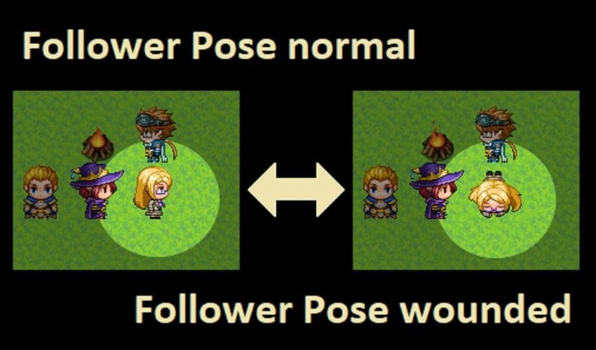 How to Change Follower Pose in RPG Maker MV - Tyruswoo Follower Control Plugin