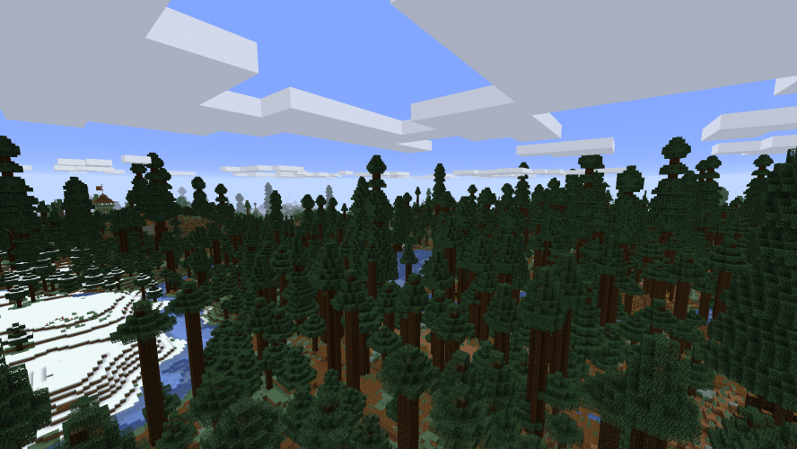 Welcome to the True Mega Taiga - Skaliber Trees in Minecraft